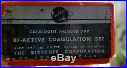 Vintage medical equipment Birtcher Bi-Active Coagulation Set 1940's