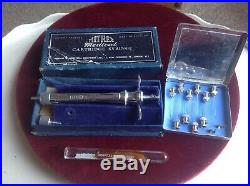 Vintage medical equipment, syringe, needles and other bits, quality 1950's boxed
