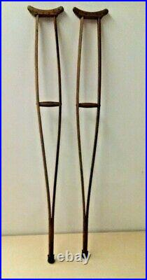 Vintage wooden crunches-Decant condition-Slightly scared- Medical equipment