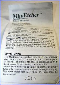 Vtg DEN-MAT MiniEtcher Precision Sandblaster No. 040207700 Surface Etching -DE2