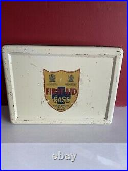 Wallace Cameron Vintage First Aid Metal Box Empty Kit, Case, Box Medical