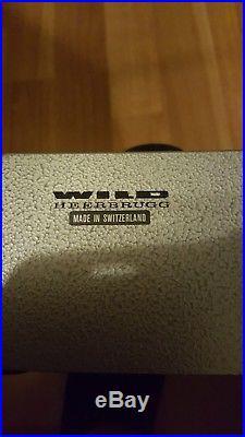 Wild Heerbrugg Microscope Vintage Made in Switzerland