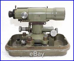 Wild Heerbrugg N2 Vintage Level Telescope in Original Case with metal Hood
